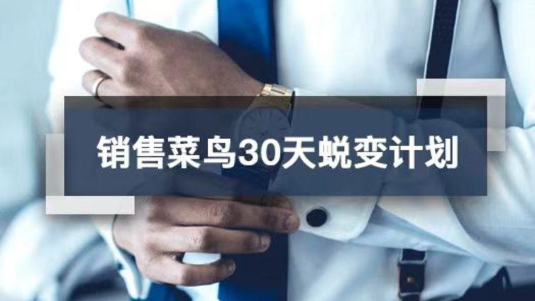 新课上线丨销售菜鸟30天蜕变计划